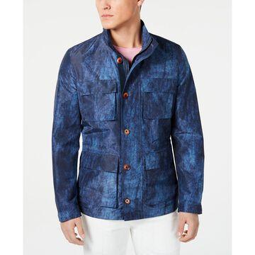 Men's Slim-Fit Graphic Raincoat