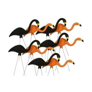 "Bloem Spooky Flamingo 25"" Halloween Yard Decor, 10-Pack"