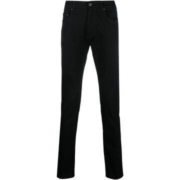 slim-cut trousers
