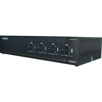 BLACK BOX SS8P-DVI-8X4-UCAC SECURE NIAP 3.0 KM SWITCH - 8X4 MATRIX, DVI-I, CAC