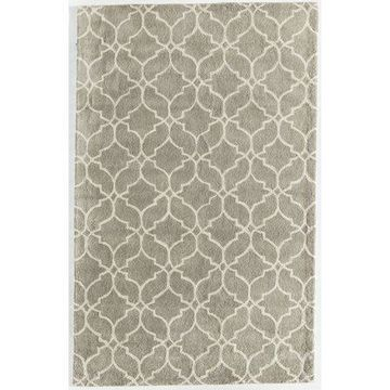 Rugs America Delano Collection Links Platinum DL840 Contemporary Geometric Area Rug 5' x 8'