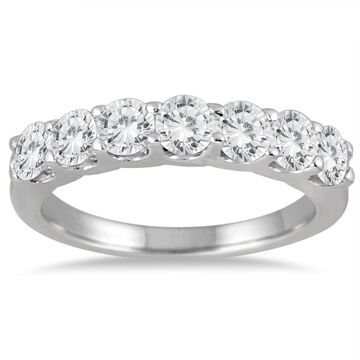 Marquee Jewels 14k White Gold 1 3/8ct TDW 7-stone Diamond Band