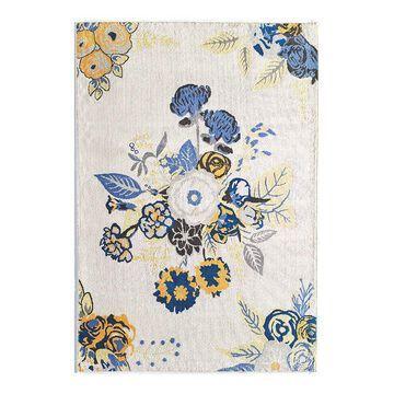 Rugs America Rose Garden Rug, White, 2X4 Ft