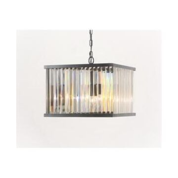 Abbyson Living Zula Square Crystal Chandelier