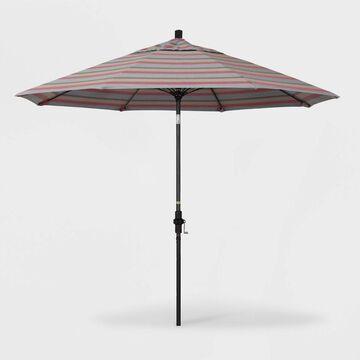 9' Sun Master Patio Umbrella Collar Tilt Crank Lift - Sunbrella Gateway - California Umbrella