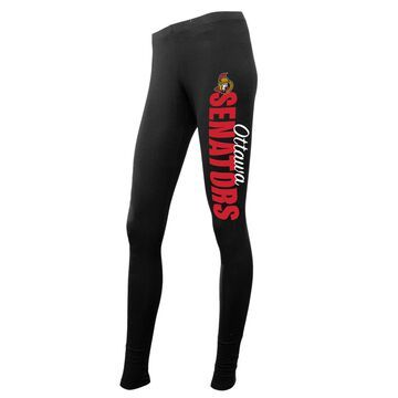 Women's Concepts Sport Black Ottawa Senators Solid Leggings