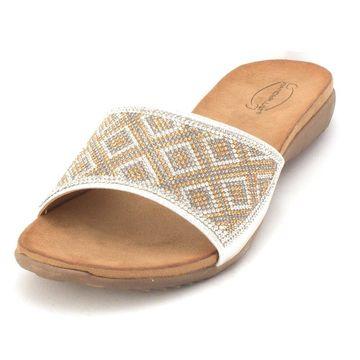 Wanderlust Womens Ana Open Toe Casual Slide Sandals