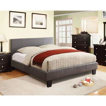 Furniture of America Franklin Gray Leatherette Queen Bed
