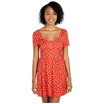RVCA Fenced Dress (Paprika) Women's Dress
