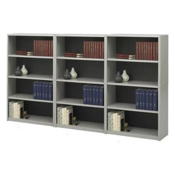 Safco 4-Shelf ValueMate Economy Steel Wall Bookcase in Grey