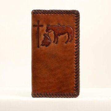N5413808 Leather Rodeo Embossed Wallet, Tan