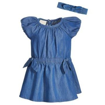 First Impressions Baby Girls 3-Pc. Denim Dress, Bloomers & Headband Set, Created for Macy's