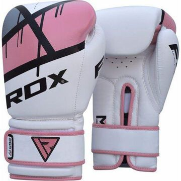 RDX F7 Leather Boxing Gloves, 10oz, Pink