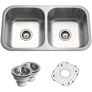 Houzer BSD-3209 Belleo Series Top-Mount Double-Bowl Kitchen Sink