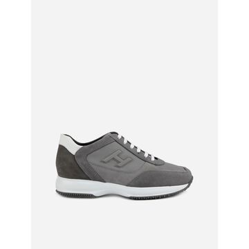 Hogan Interactive Suede, Leather & Texture Sneakers