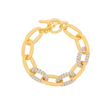 crystal-embellished chain bracelet