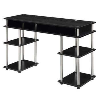 Convenience Concepts Designs2Go 47.25-in Modern/Contemporary Student Desk Stainless Steel | 131436
