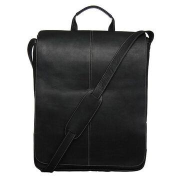 Royce Leather 17-inch Vertical Laptop Messenger Bag