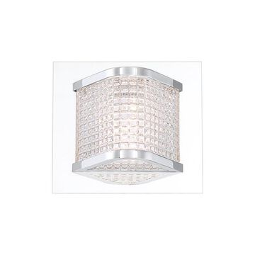 Eurofase Belgroue 5.75-in W 1-Light Chrome Transitional Wall Sconce