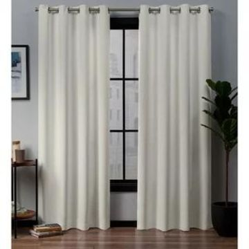 ATI Home Academy Total Blackout Grommet Top Curtain Panel Pair (52x96 - Ivory)
