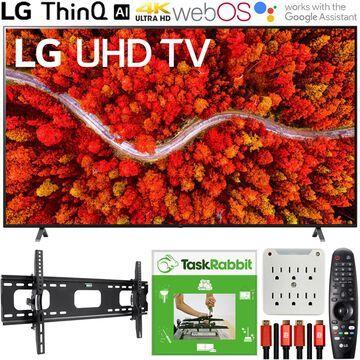 LG 86 Inch AI ThinQ 4K UHD Smart TV 2021 +TaskRabbit Installation Bundle