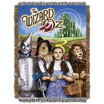 The Wizard of Oz Group Triple Woven Tapestry Throw