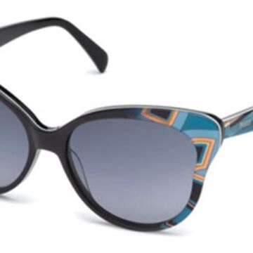 Emilio Pucci EP0062 05B Womenas Sunglasses Black Size 57