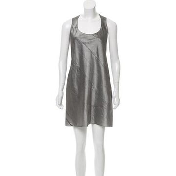 2016 A-line Silk Dress Grey