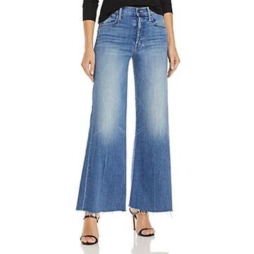 Mother Tomcat Roller Wide Leg Ankle Jeans in We The Animals