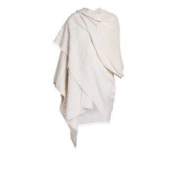 Agnona Agnona x LemLem Cotton, Cashmere & Silk Cape