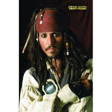 Trends International Pirates of the Carribbean Depp Portrait Wall Poster 22.375