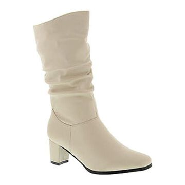 Wanderlust Women's Delaney Slouch Boot Off White Faux Leather