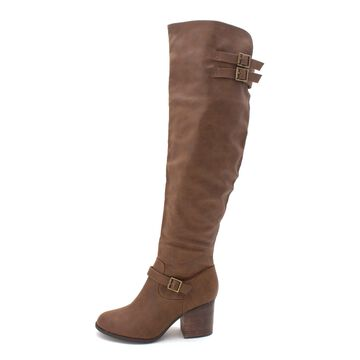 Material Girl Womens Modiana Closed Toe Over Knee Fashion Boots