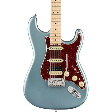 Fender American Elite Stratocaster HSS Shawbucker Maple Fingerboard Electric Guitar Satin Ice Blue Metallic