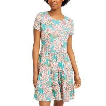 Be Bop Juniors' Honeydew Tiered T-Shirt Dress