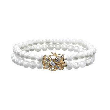 Sofia Sofia Genuine White Cultured Freshwater Pearl Strand Bracelets Family