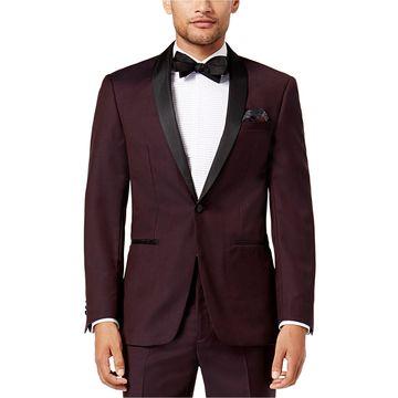 Tallia Mens Twill Two Button Blazer Jacket