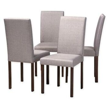 Baxton Studio Andrew Chairs in Grey (Set of 4)
