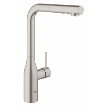 GROHE Essence Super Steel 1-Handle Deck-Mount Pull-Out Handle Kitchen Faucet Stainless Steel | 30271DC0