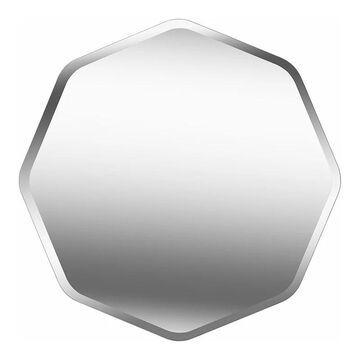 Kenroy Home Octavia Glass Wall Mirror, Grey, 28X28