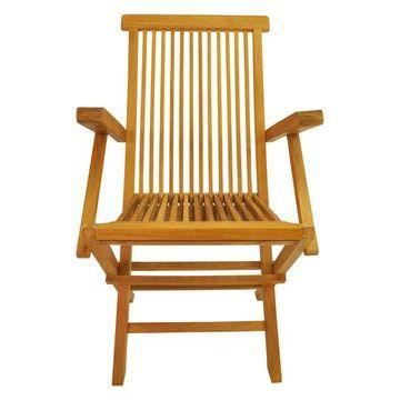 Anderson Teak Patio Lawn Garden Furniture Classic Folding Armchair