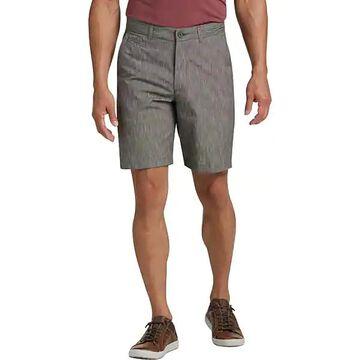 Joseph Abboud Men's Brown Cotton and Linen Modern Fit Shorts - Size: 34W