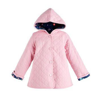 Baby Girls Cotton Quilted Reversible Jacket, Created for Macy's