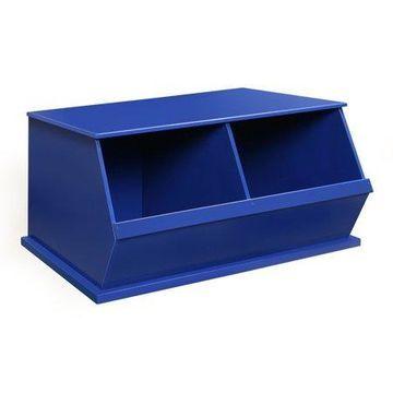 Badger Basket Two Bin Stackable Storage Cubby - Blue