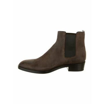 Suede Chelsea Boots w/ Tags Brown
