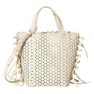 ZAC Zac Posen Lacey Bow North/South Shopper (Swan) Handbags