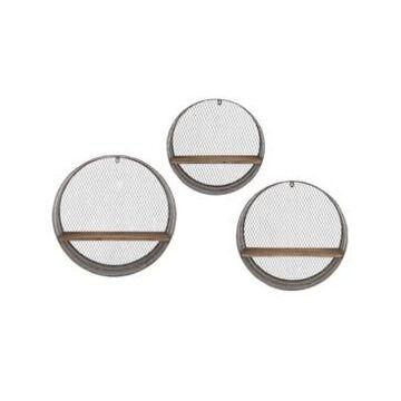 Imax Laurel Round Wall Shelves - Set of 3