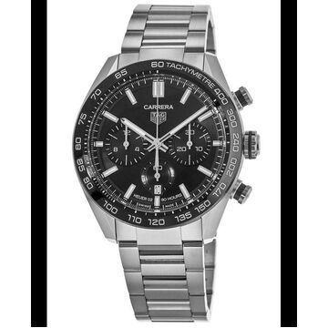 Tag Heuer Carrera Calibre Heuer 02 44mm Black Dial Steel Men's Watch CBN2A1B.BA0643 CBN2A1B.BA0643bl