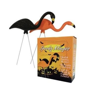 "Bloem Spooky Flamingo 25"" Halloween Yard Decor, 2 Pack"