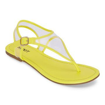Mixit Womens Slate T-Strap Flat Sandals